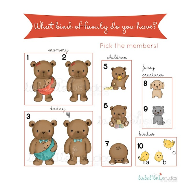 bear-family-chart-personalized-illustration