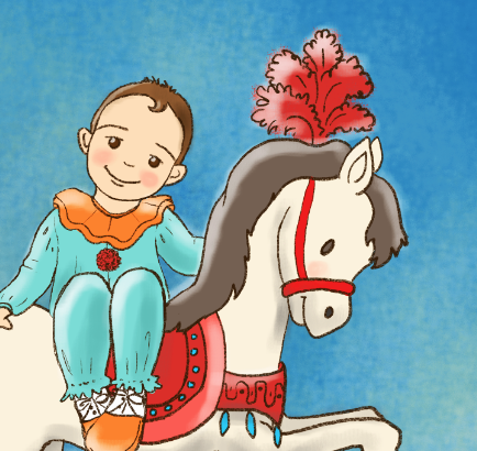 circus-illustration-little-boy-horse-lalelilolustudios
